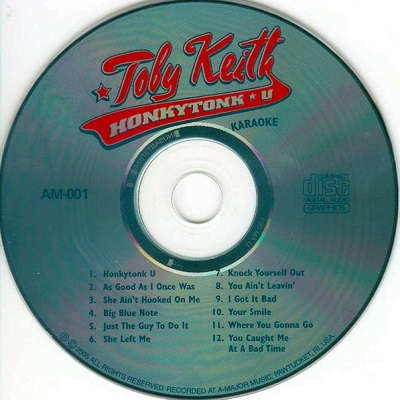 A-Major Music Karaoke - AMM001 - CD+G Label - Toby Keith