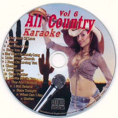 All Country Karaoke - AC06 - Label - karaoke song books