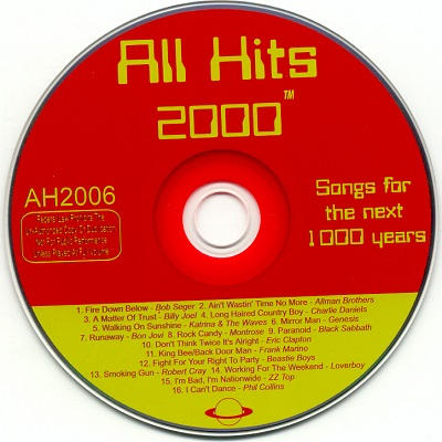 All Hits Karaoke - AH2006 CDG Label