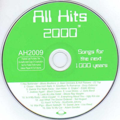 All Hits Karaoke - AH2009 CD+G Label
