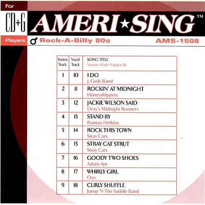 Ameri-sing Karaoke AMS1508 - Front