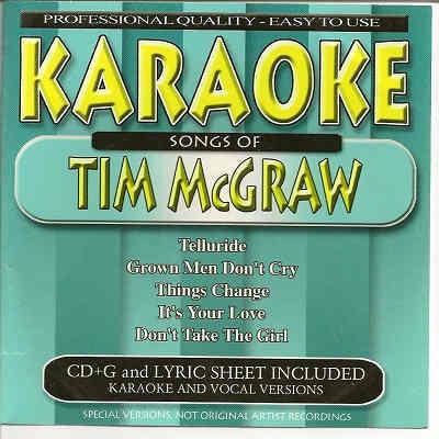 BCI Eclipse Karaoke BC40161 - Front - Tim McGraw