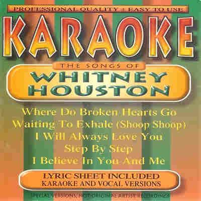 BCI Eclipse Karaoke BC805 - Front - Whitney Houston