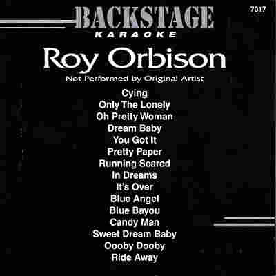 Backstage Karaoke BS7017 - Front - Roy Orbison