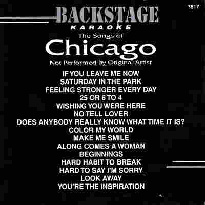 Backstage Karaoke BS7817 - Front - Chicago