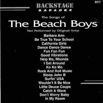 Backstage Karaoke BS8517 - Front - Beach Boys