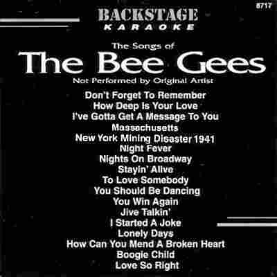 Backstage Karaoke BS8717 - Front - Bee Gees