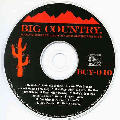 Big Country Karaoke BCY010 - song book downloads