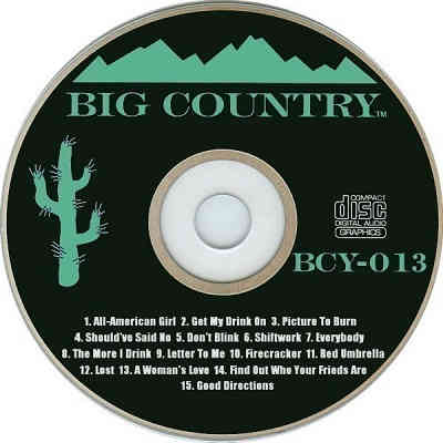 Big Country Karaoke BCY013 - Label - CDG