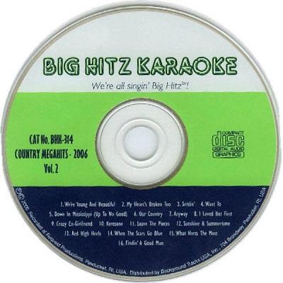 Big Hitz Karaoke BH0314 - SONG BOOKS