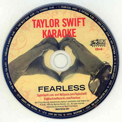 Big Machine Records Karaoke BMR230 Label Taylor Swift