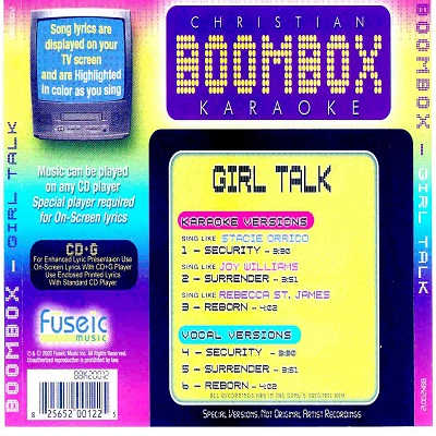 BoomBox Karaoke BBK20012 CDG Back - Boom Box