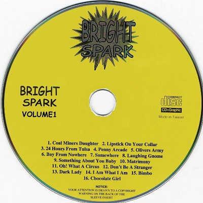 Bright Spark Karaoke BSK001 CDG Label