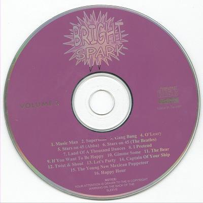 Bright Spark Karaoke BSK002 CD+G Label