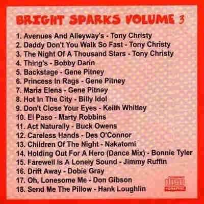 Bright Spark Karaoke BSK003 - Back