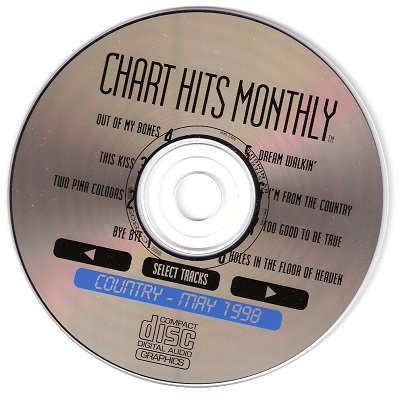 Chart Hits Monthly Karaoke CHMC9805 CD+G Disc
