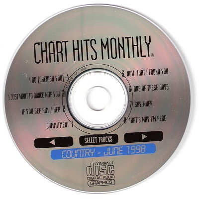 Chart Hits Monthly Karaoke CHMC9806 CD+G Disc
