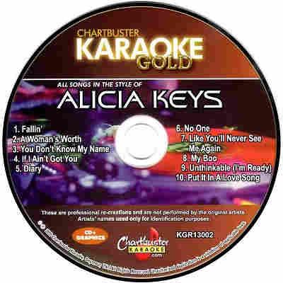 Chartbuster Karaoke CB13002 - CD+G Label