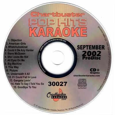 Chartbuster Karaoke CB30027 - CDG Label - Pop Hits