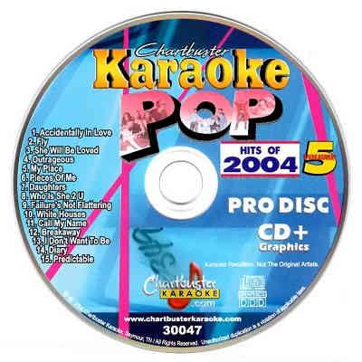 Chartbuster Karaoke CB30047 - CDG Label - Pop Music