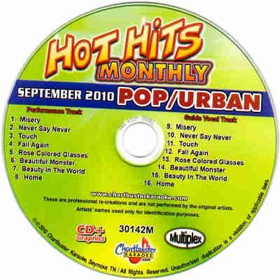 Chartbuster Karaoke CB30142 - CDG Label - Pop - Urban