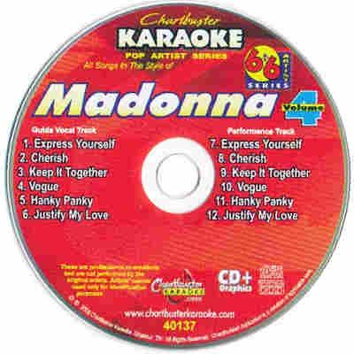 Chartbuster Karaoke CB40137 - CDG Label - Madonna