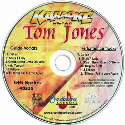 Chartbuster Karaoke CB40325 - CDG Label - Tom Jones