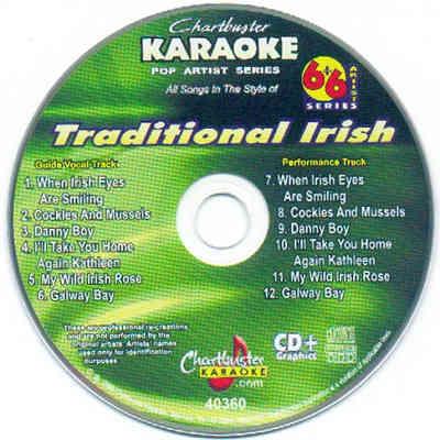 Chartbuster Karaoke CB40360 - CDG Label - Traditional Irish
