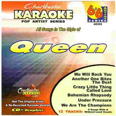 Chartbuster Karaoke CB40392 - CDG Front - Queen