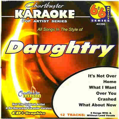 Chartbuster Karaoke CB40396 - CDG Front - Daughtry