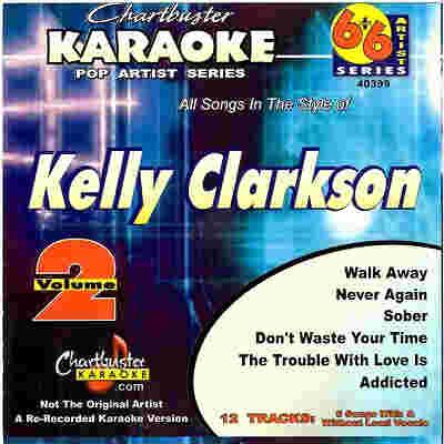 Chartbuster Karaoke CB40399 - CDG Front - Kelly Clarkson