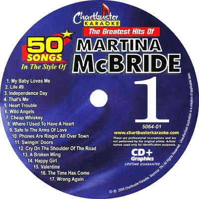 Chartbuster 5064 Martina Mcbride Karaoke Cd+g 3 Disc Box Set 50 Songs New Musical Instruments & Gear