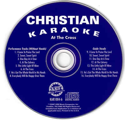 Christian Karaoke - KAR1004 - CDG Disc Label
