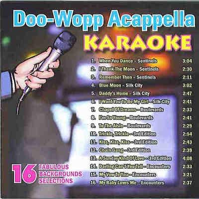 Clifton Music Karaoke - DOOWOP001 - Back Cover