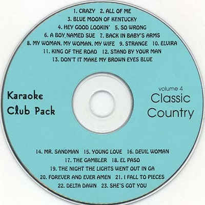 Club Karaoke Pack - CLUB004 CDG Disc Label