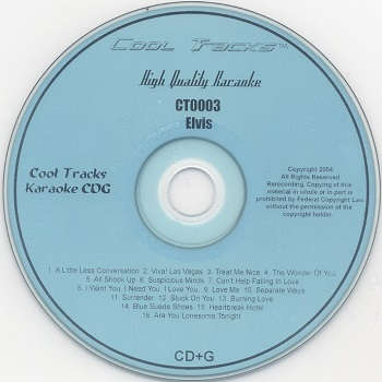 Cool Tracks Karaoke - CTK0003 - CDG Disc Label