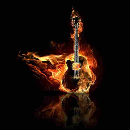 Cool Tracks Karaoke - guitar on fire