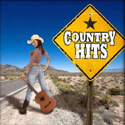 Country Hits Monthly Karaoke woman in sexy pose on roadside with guitar