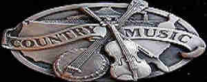 Country Karaoke Classics - belt buckle