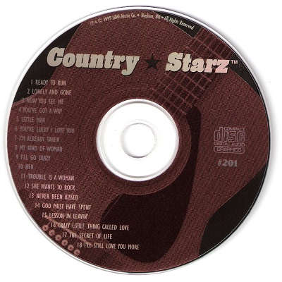 Country Starz Karaoke - CSZ201 CDG Disc Label