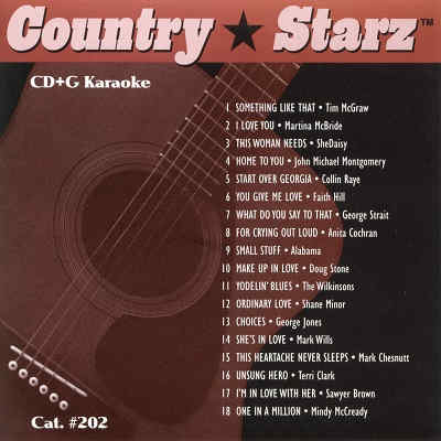 Country Starz Karaoke - CSZ202 - CDG Back
