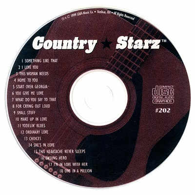 Country Starz Karaoke - CSZ202 CDG Disc Label