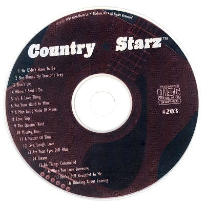 Country Starz Karaoke - CSZ203 CDG Disc Label