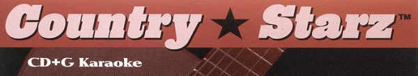 Country Starz Karaoke - Logo and Banner - stars
