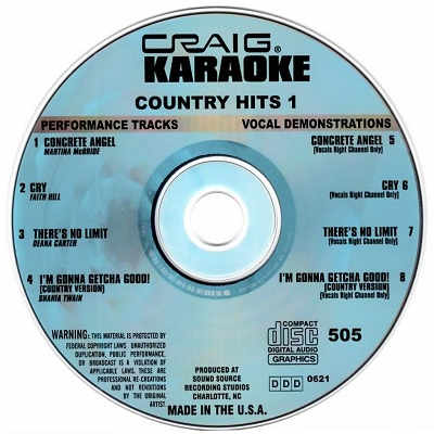 Craig Karaoke - CRK505 CDG Disc