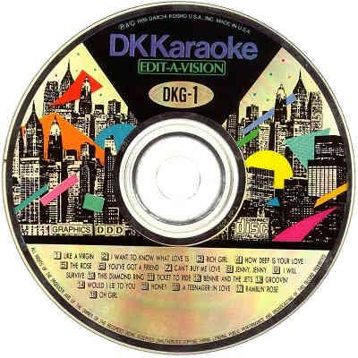 DK Karaoke - DK001 - Label