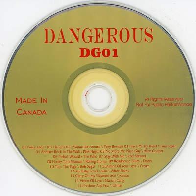Dangerous Karaoke DG01 CDG Disc