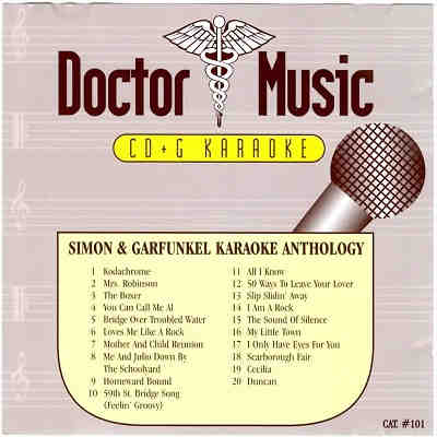 Doctor Music Karaoke - DM101 - Front Cover - Simon and Garfunkel Anthology