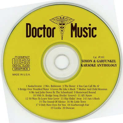 Doctor Music Karaoke - DM101 - Label - Simon and Garfunkel Anthology