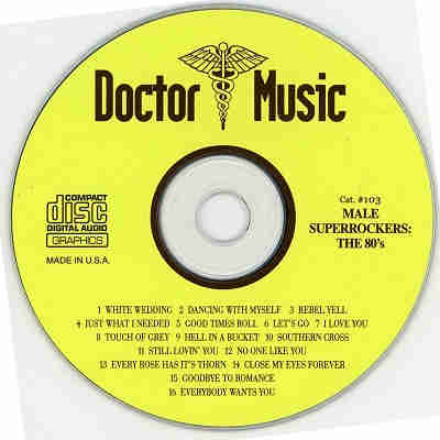 Doctor Music Karaoke - DM103 - Label - Male Super Rockers of the 80's